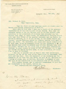 Donation Inquiry from Oliver C. Morse, October 1890