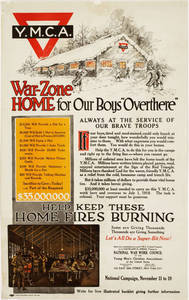 "World War I Poster - War-Zone Home for Our Boys ""Overthere"""
