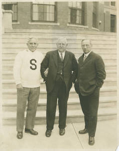 Almos Alonzo Stagg, Dr. Frank Seerly, and William Henry Ball