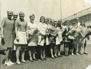 Springfield College Women's Softball Team at Schipol Airport (Summer 1971)