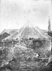 Army Tent and Man (1919)