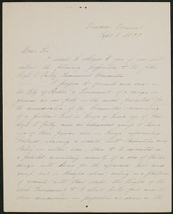 Letter, September 1, 1893, Daniel Chester French to James Jeffrey Roche