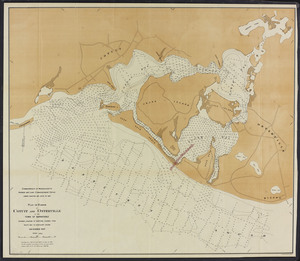 Plan of harbor at Cotuit and Osterville in the town of Barnstable: showing location of proposed channel from South Bay to Nantucket Sound