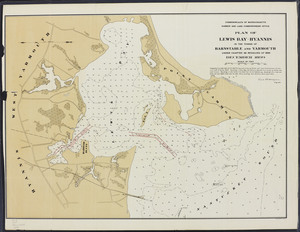 Plan of Lewis Bay - Hyannis in the towns of Barnstable and Yarmouth