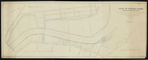 Plan of Chelsea Creek between East Boston and Chelsea exhibiting the circumscribing line to which wharves may be extended