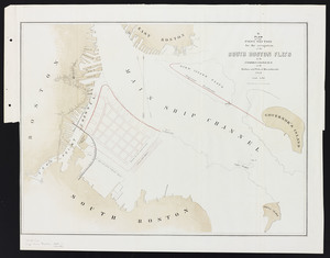 [Plans of the South Bay]. Map B. Plan of the first section for the occupation of the South Boston flats