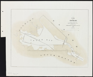 [Plans of the South Bay]. Map C. Plan of South Bay showing changes in the Harbor Commissioners Lines