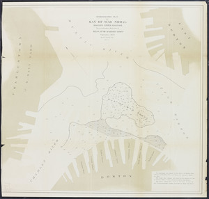 Hydrographic plan of Man of War Shoal, Boston upper harbor