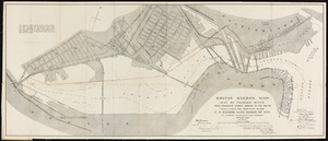 Boston Harbor, Mass., map of Charles River: from Brookline Street Bridge to its mouth
