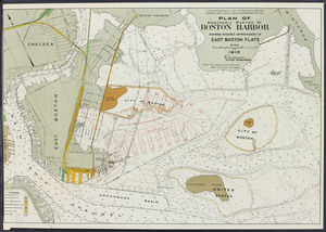Plan of northerly portion of Boston Harbor: showing possible improvement of East Boston Flats