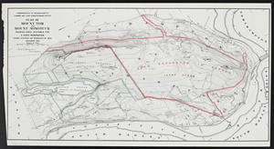 Plan of Mount Tom and Mount Nonotuck: showing area suitable for a state reservation