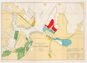 Map of Boston Inner Harbor: to accompany report under Chapter 93, Resolves of 1907
