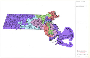 MCD boundaries: 1992 Congressional districts