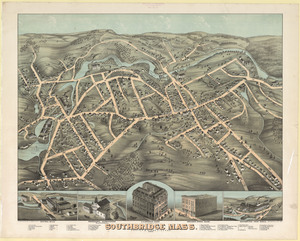 View of Southbridge, Mass.: Center & Globe Village, 1878