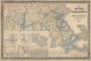 New map of Massachusetts: compiled from the latest and best authorities