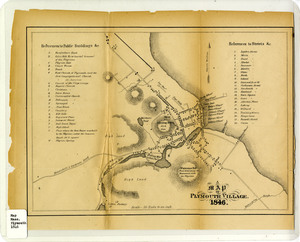 A map of Plymouth Village, 1846