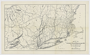 Map of the Hudson River & Berkshire R.R. and its connections / by H.F. Keith, chief engineer.