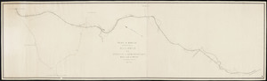 Plan of route surveyed for a railroad from Sterling to Westborough