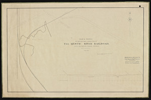 Plan & profile of the proposed connection of the Mystic River Railroad, with the Boston & Maine Railroad, in Somerville / Thomas Doane & John Doane Jr.