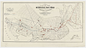 Map of the Middlesex railroad and proposed extension