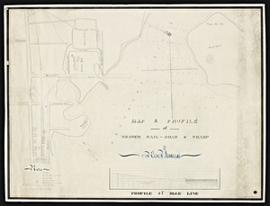 Map & profile of branch rail-road & wharf in New Bedford