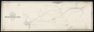 Map of surveys for the extension of the Charles River railroad / John M. Harris, engineer.