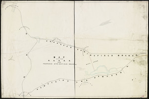 Map of the Hampshire & Hampden R.R. and proposed Springfield Branch / L.M.E. Stone, Chief engineer, H. & H. R. Road.