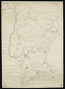 Railroad map of Eastern Massachusetts and Southern New Hampshire