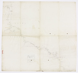 Plan and profile of a proposed rail road from North Adams to Williamsburg, Massachusetts