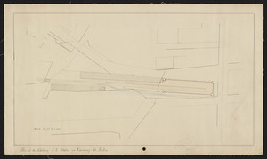 Plan of the Fitchburg R.R. station on Causeway St., Boston.