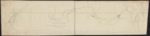 Plan and profile for proposed railroad from Crane's to Attleboro / C.E. Barney, civil engineer.