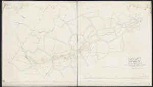Map & profile of routes surveyed for a railroad from Pepperell to Lexington: compiled from surveys made December 1870 and other sources