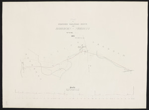 Plan of proposed railroad route from Sherborn to Needham / Wm. F. Ellis.