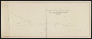 Plan of the proposed extension of the Granite Railway to the Old Colony & Newport Railway / S.L. Minot, engineer.