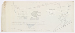 Plan and profile of the connection of the Old Colony Railroad with the Fall River, Warren and Providence R.R.