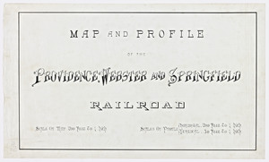 Map and profile of the Providence, Webster and Springfield railroad.