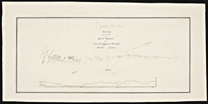 A survey of a route for a railroad from Newburyport Bridge to State line / Joshua Barney, engineer.