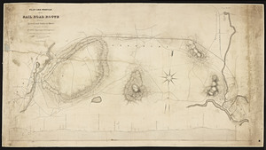 Plan and profile of a railroad between Lowell and Andover, Mass. / copied by L. Briggs, Jr.