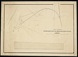 Plan and profile of a proposed branch from the Charlestown branch railroad to Cambridge / Thomas Doane.
