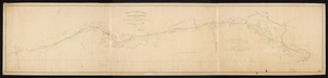 Plan and profile of a railroad route from Woonsocket, R.I. to Boston, Mass. / Wm. P. Parrott.