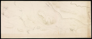 Plan and profile of a railroad route from Palmer to Montague, through Palmer, Belchertown, Amherst, Sunderland and Montague / by George Stevens, engineer.