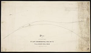 Plan of the junction of Cape Cod branch railroad with Fall River railroad.