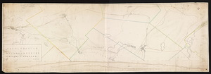 Plan and profile of a railroad survey from Millbury to Webster