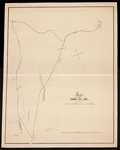 Map of the Hampden Railroad in connection with the Western and Canal roads / W.H. and H.M. Butler, engineers.