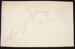 Map of the proposed railroad from Springfield to Risings Notch.