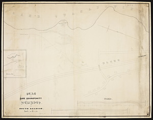 Plan of the Lake Quanapowitt Railroad in South Reading.