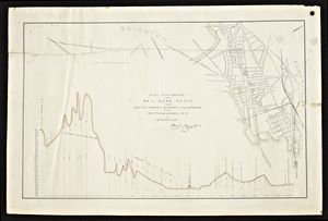 Plan and profile of a railroad route from Newton through Brighton and Cambridge to the Boston and Lowell R.R. in somerville / William P. Parrot, engineer.