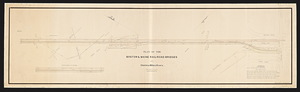 Plan of the Boston & Maine railroad bridges over Charles and Millers Rivers / Henry P. Hall, draughtsman.