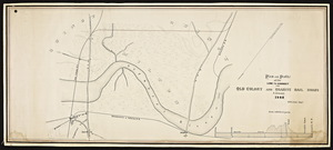 Plan and profile of the line to connect the Old Colony and granite railroads / S. Dwight Eaton, surveyor.