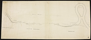 [Map of the Connecticut River from Springfield to Hadley].